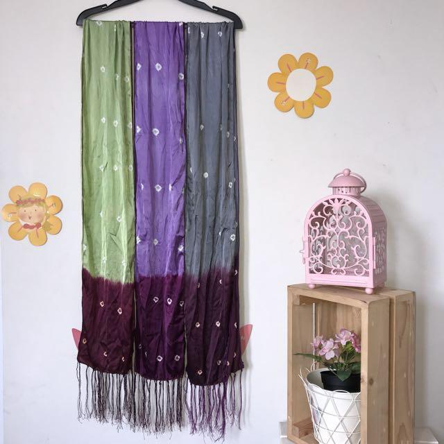 Scarf Ethnic (green/purple/grey)