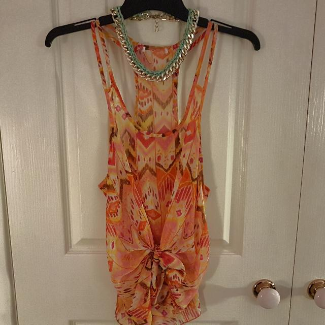 Sheer Boho Top Size S