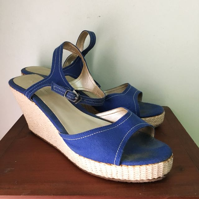 Shoelicious Blue Wedges