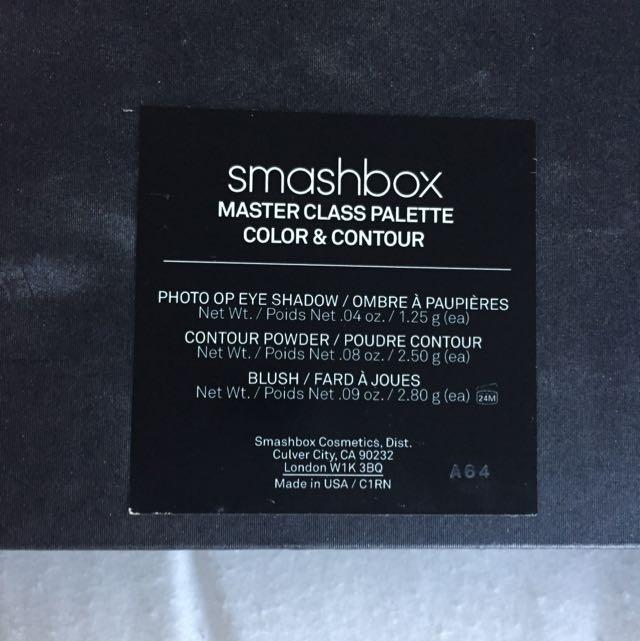 Smashbox- Masterclass Palette Color & Contour