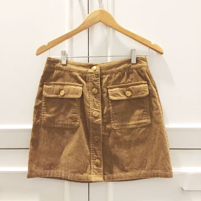 Stradivarius Corduroy Mini Skirt Size 36