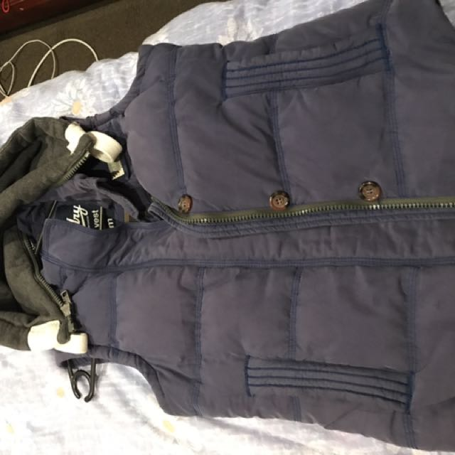 Superdry Vest With Detachable Hoodie