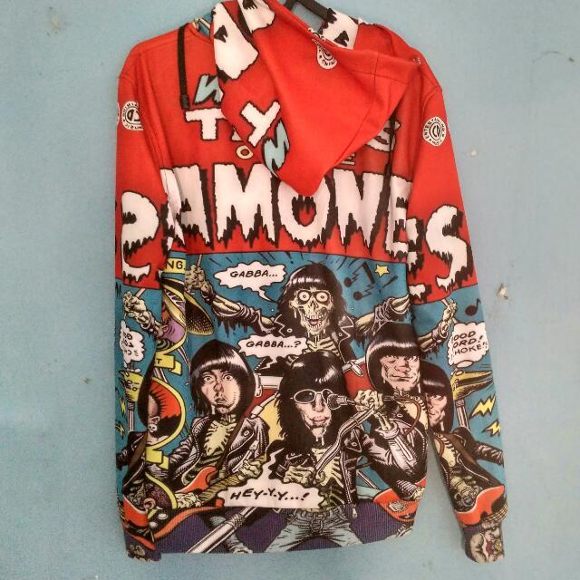 Sweater Hoodie Full Print Ramones