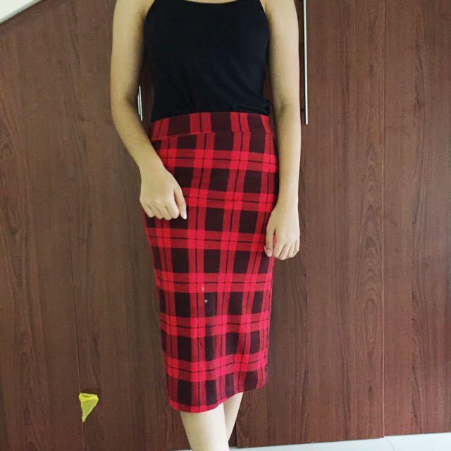 Tartan Pencil Skirt