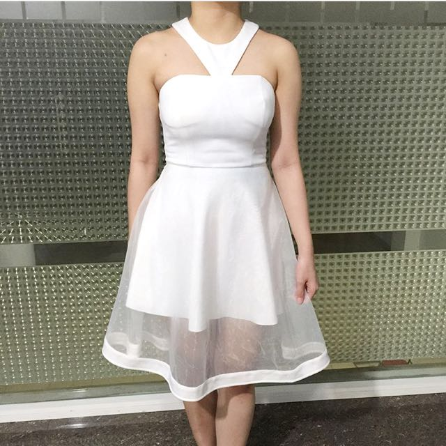 The Closet Lover Premium White Organza Dress