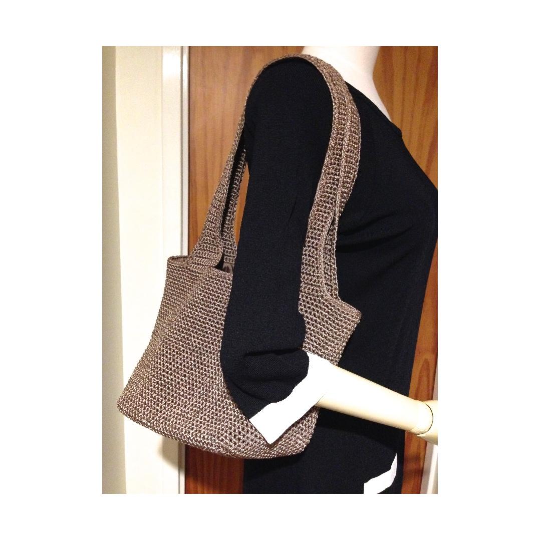 The SAK knitted crochet shoulder bag Like New