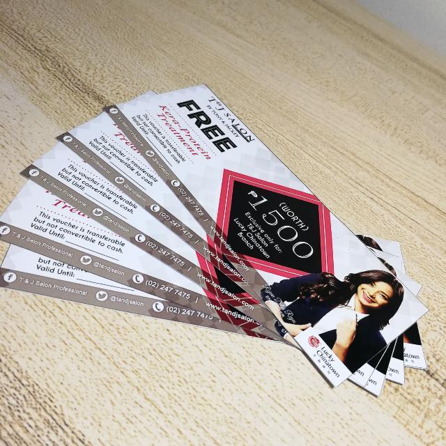 4 pcs left! T&J Salon P1500 Worth Voucher