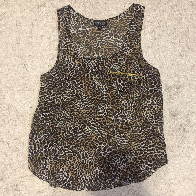 Topshop Leopard Print Loose Top