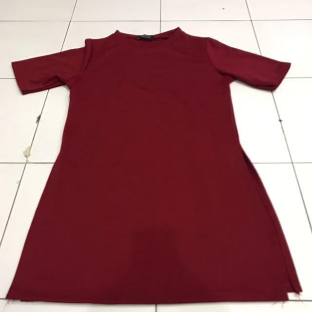 Topshop Slit Dress