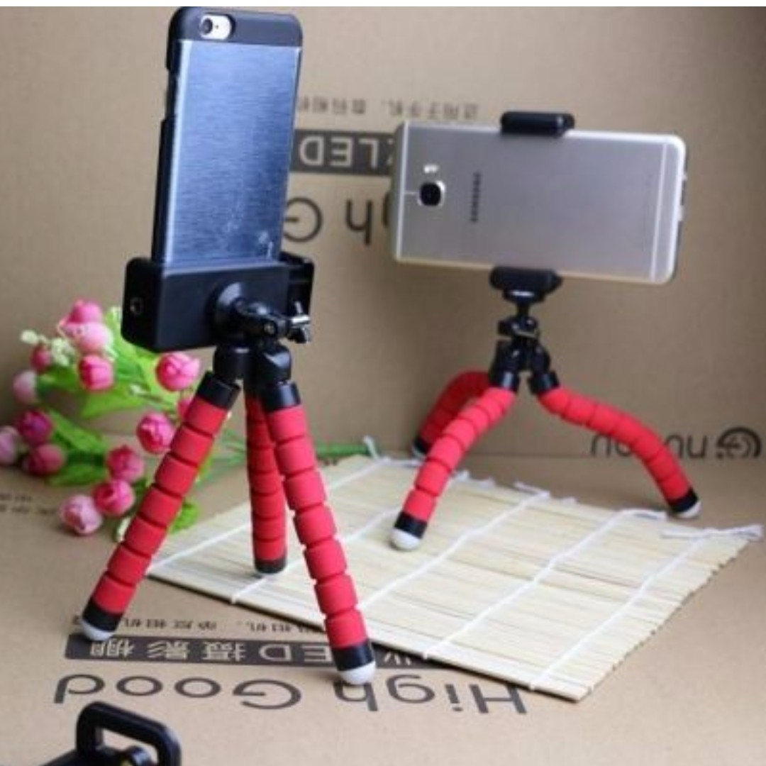 Tripod Stand Octopus for Phone and Camera  ( Body + Upper Holder )