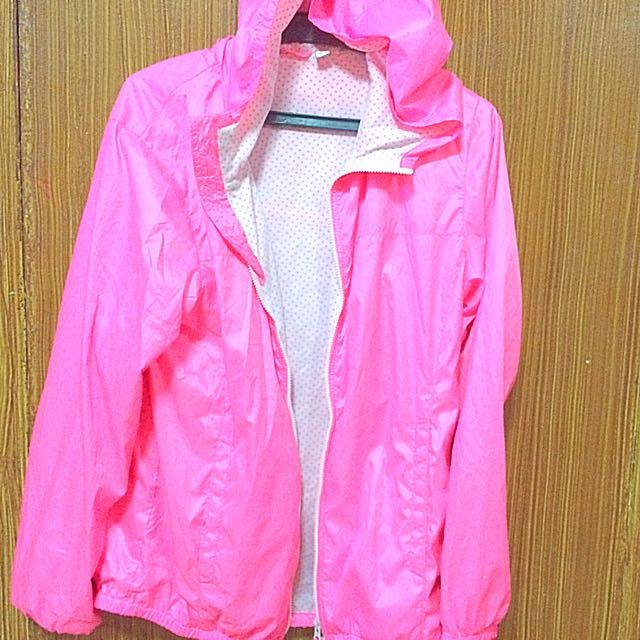Uniqlo Pink Waterproof Jacket