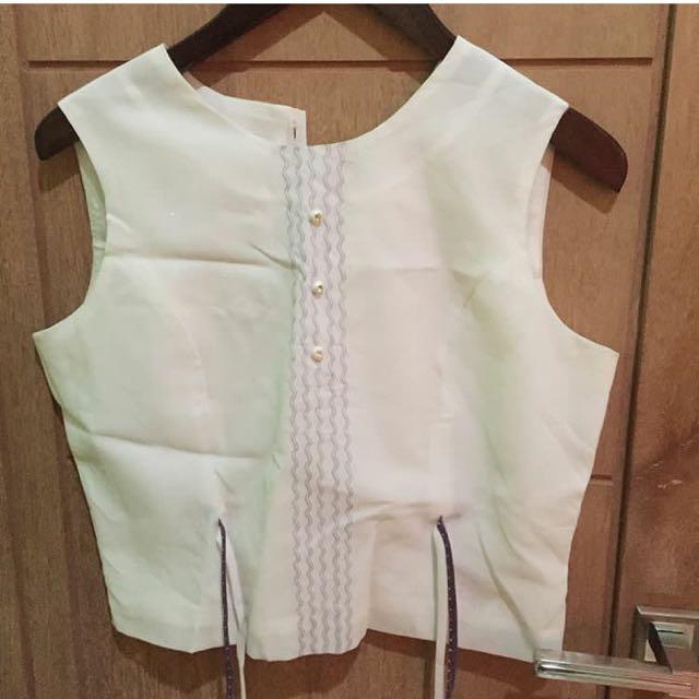 white blouse tank