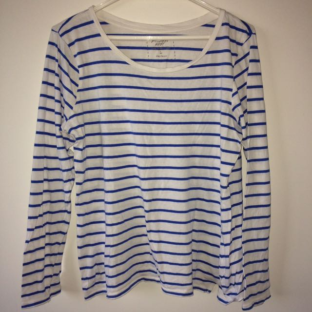 White&blue Stripped Top