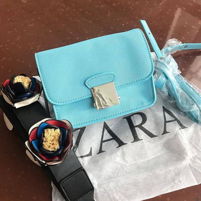 Zara Crossbody Bag Blue
