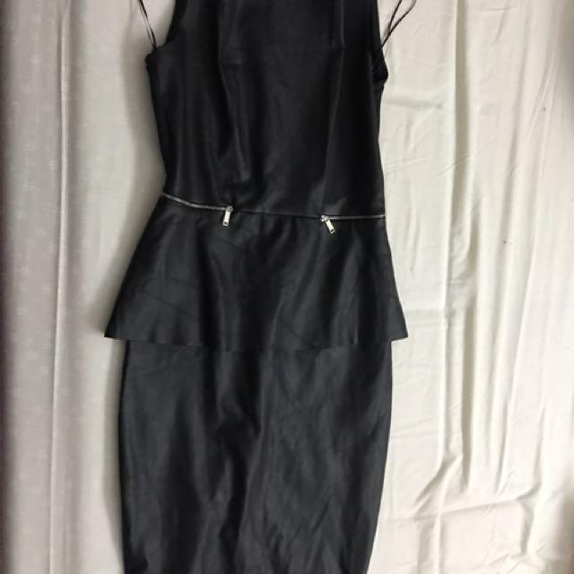 Zara Faux Leather Dress