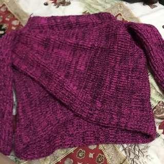 桃色造型毛衣