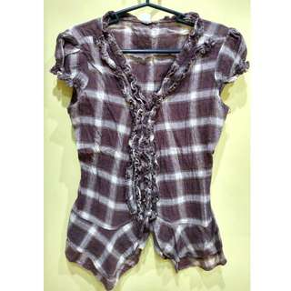 Brown Checkered Top ❤