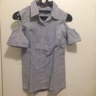 Korean Shirt // Kemeja Off Shoulder // Casual Top