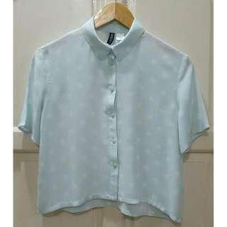 H&M Short-sleeved Blouse