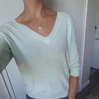 Mint Green Light Sweater