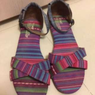 TOMS®民族風圈踝平底涼鞋(於台灣專櫃購買)