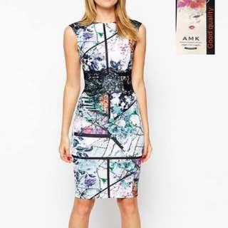 Printed Bodycon Dress