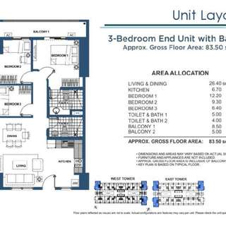 3 Bedroom High Ceiling Condo Unit At DMCI Lumiere