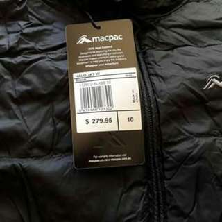 BRAND NEW - MACPAC JACKET Size 10