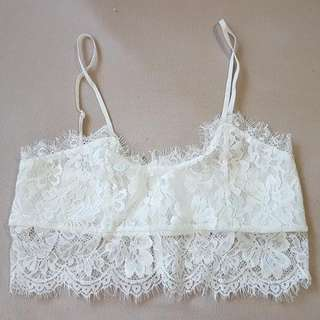 Size M White Crop Top $3 Or 2 For $5