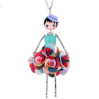 Handmade French Doll Pendant + Necklace