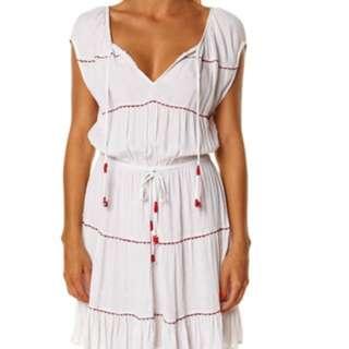 TIGERLILY KETIKA DRESS - WHITE RED