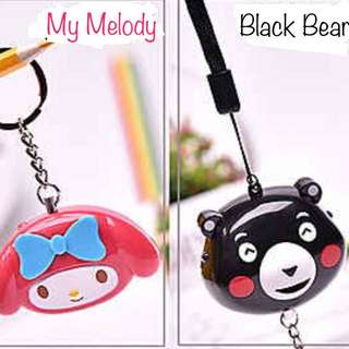 BNIP Shrill Alarm Keychain 130db My Melody Black Bear Others
