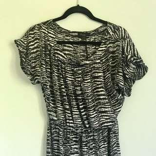 Chic Zebra Print Dress Top