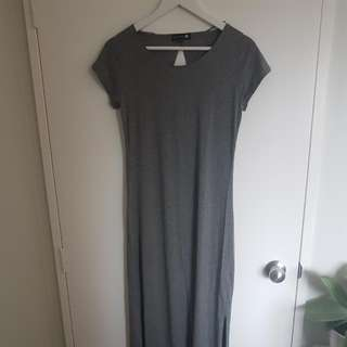 Grey T-Shirt Maxi Dress