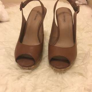 Call It Spring Wedge Sandals - Brown
