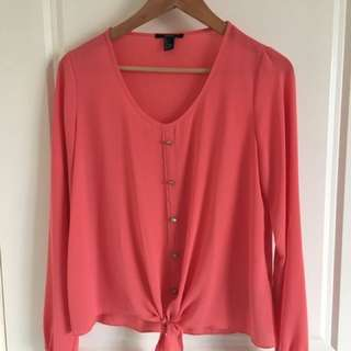 Forever 21 Peach Blouse- Size S