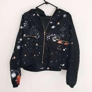 Space/Galaxy Jacket w/ Hood - S