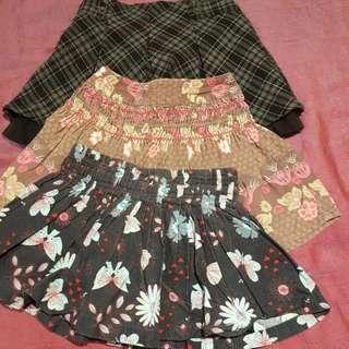 Girls Winter Skirts, Size 3