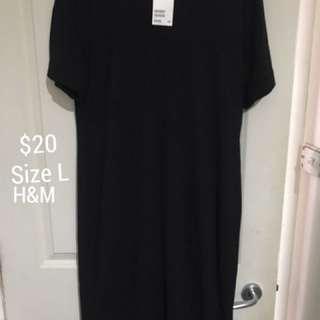Plain Black Dress From H&M