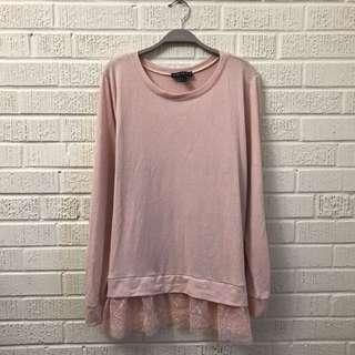 3X F21+ Lightweight Sweater w/ Lace