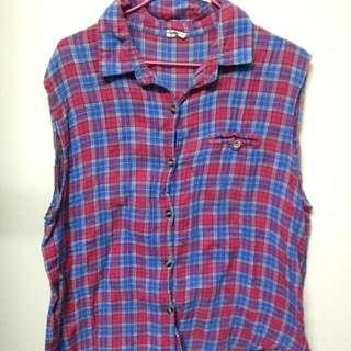 古着紅藍格子襯衫#含運最划算