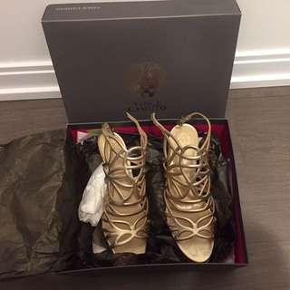 Vince Camuto Golden Sandals