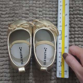 old navy gold ballet flats