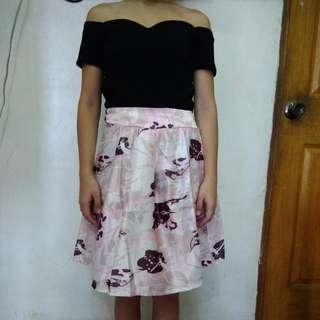 Terno -offshoulder Blouse+skirt