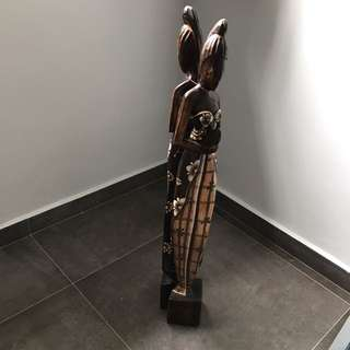 Balinese Wood Sculpture - Pair ( On hold )