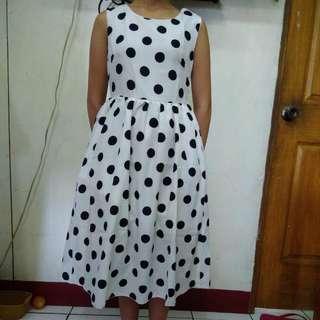 Chiffon Dress Polka