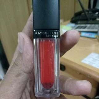 Free Ongkir! Preloved Lipstick / Lip Cream Maybelline Vivid Matte Liquid Mat 8