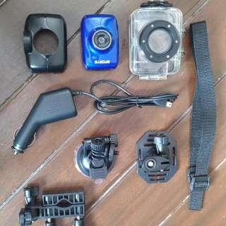 DV123 Action camera RUSH slightly Used
