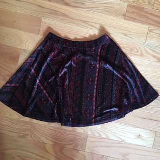 Velvet Patterned Skirt 😈