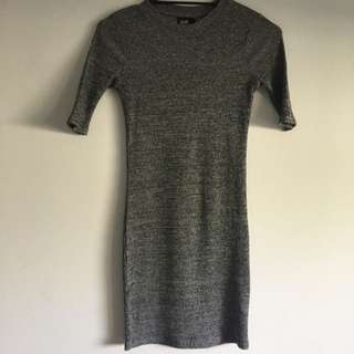 ribbed grey dress